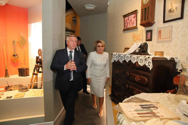 Валентина Матвиенко и Василий Голубев обсудили финансирование культуры