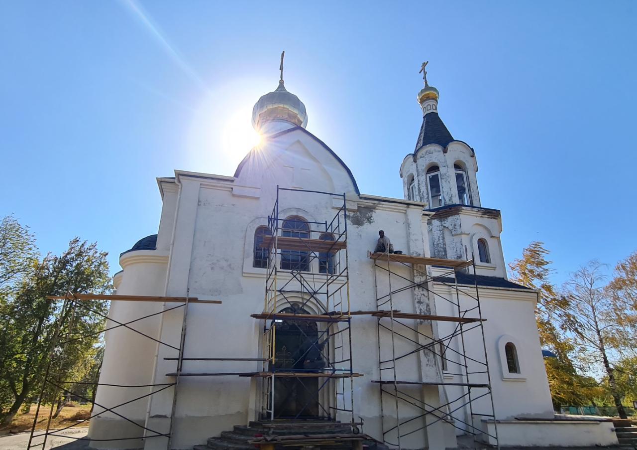 В станице Новороговской Храм отремонтирован