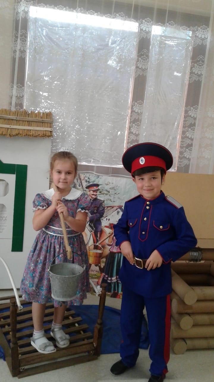 Воспитанники Егорлыкского детского сада познакомились с бытом казаков
