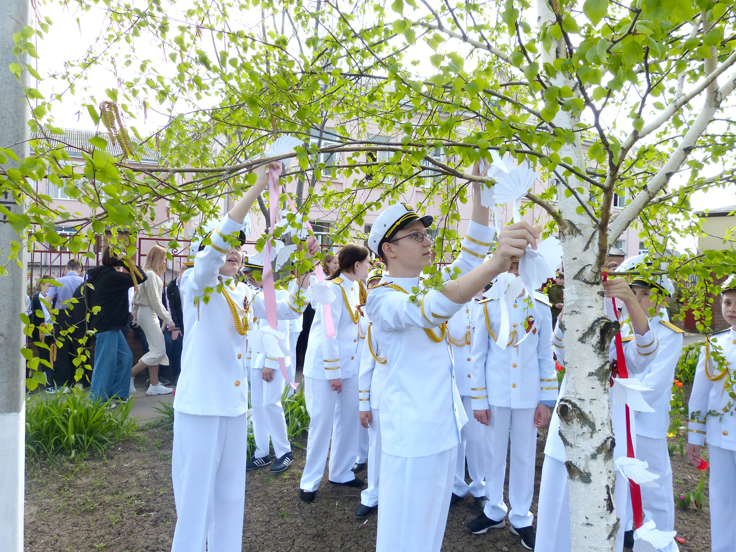 Егорлыкские школьники в честь Дня Победы высадили деревья
